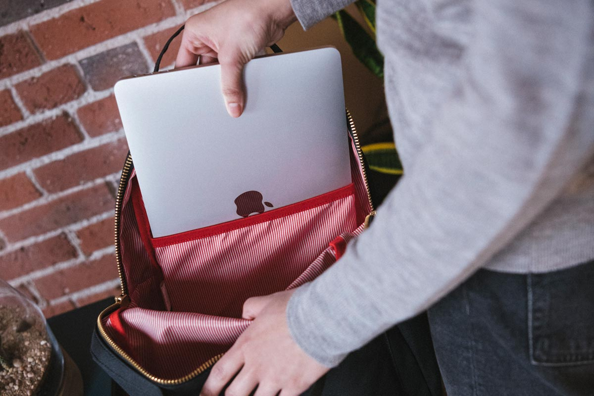 Laptop sleeve keeps your device separate from other items in the bag
